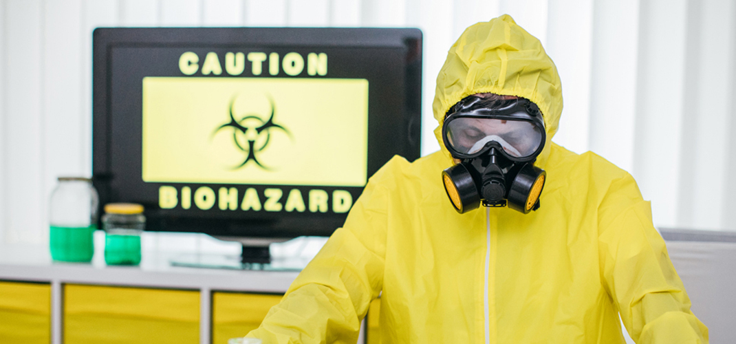 CBRNE caution biohazard